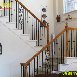 Mẫu lan can cầu thang sắt CCTS 010