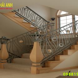 Mẫu lan can cầu thang sắt CCTS 011
