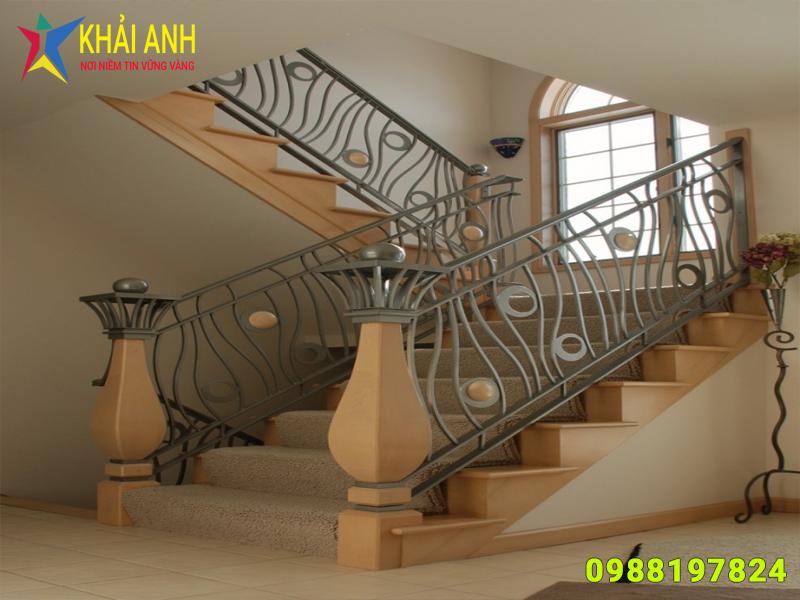 cầu thang sắt 011 nghệ thuật đẹp hà nội