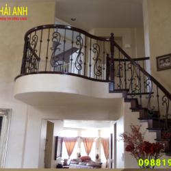 Mẫu lan can cầu thang sắt CTS 012