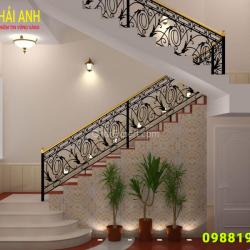 Mẫu lan can cầu thang sắt CCTS 001
