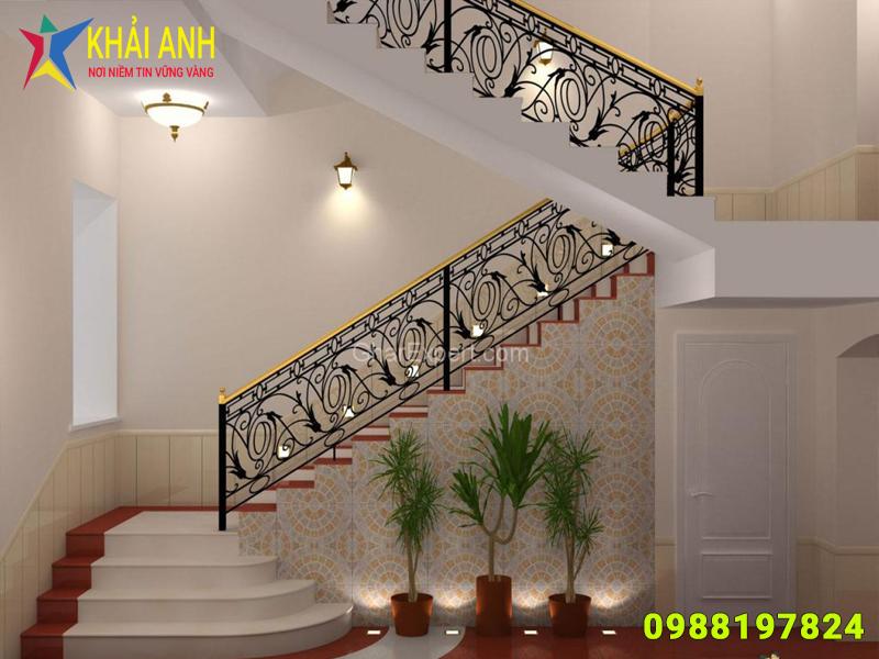 cầu thang sắt 001 nghệ thuật đẹp hà nội