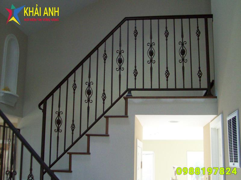 mẫu cầu thang sắt nghệ thuật