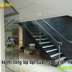 Mẫu lan can cầu thang Inox LCTC 036