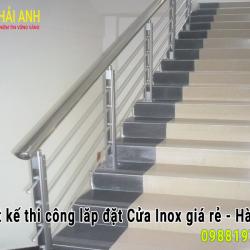 Mẫu lan can cầu thang Inox đẹp LCTC 033