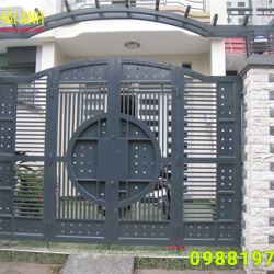 Mẫu cổng sắt hộp CSH 004
