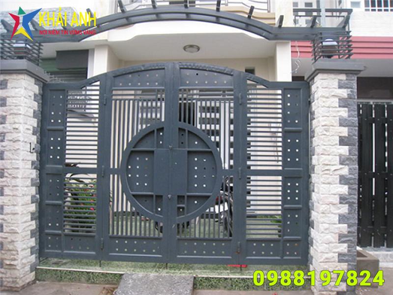 cổng sắt hộp 004 đẹp hà nội
