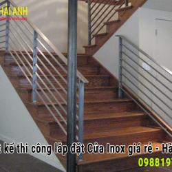 Mẫu lan can cầu thang Inox LCTC 030