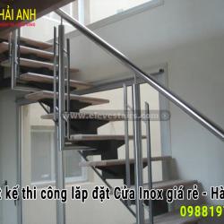 Mẫu lan can cầu thang inox 026
