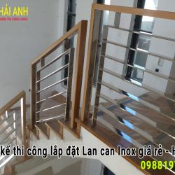 Mẫu lan can cầu thang Inox LCTC 012