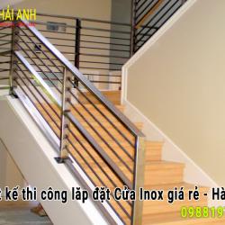 Mẫu lan can cầu thang inox LCTC 001