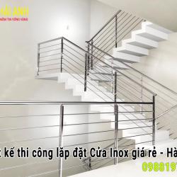 Cầu thang Inox đẹp hà nội Mẫu – LCTC 032