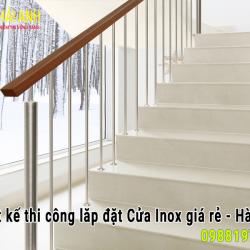 Mẫu lan can cầu thang inox 022