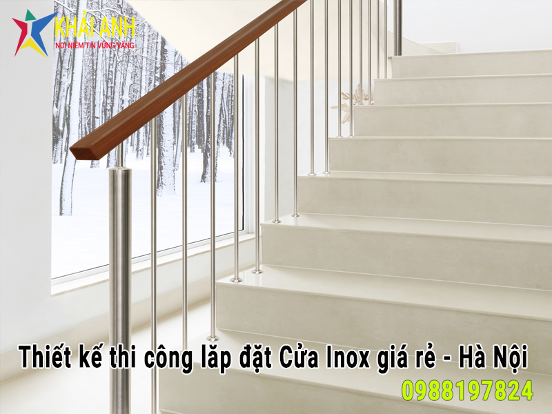cầu thang inox 022 đẹp hà nội