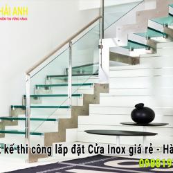 Mẫu lan can cầu thang Inox LCTC 007