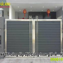 Mẫu cổng Inox CI – 001