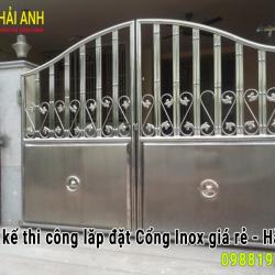 Mẫu cổng Inox CI – 013