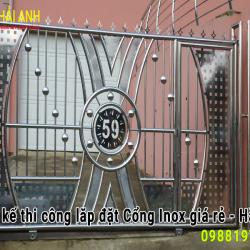 Mẫu cổng Inox CI – 014