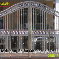 Mẫu cổng Inox CI – 016