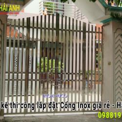 Mẫu cổng Inox CI – 017