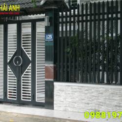 Mẫu cổng sắt hộp CSH 010