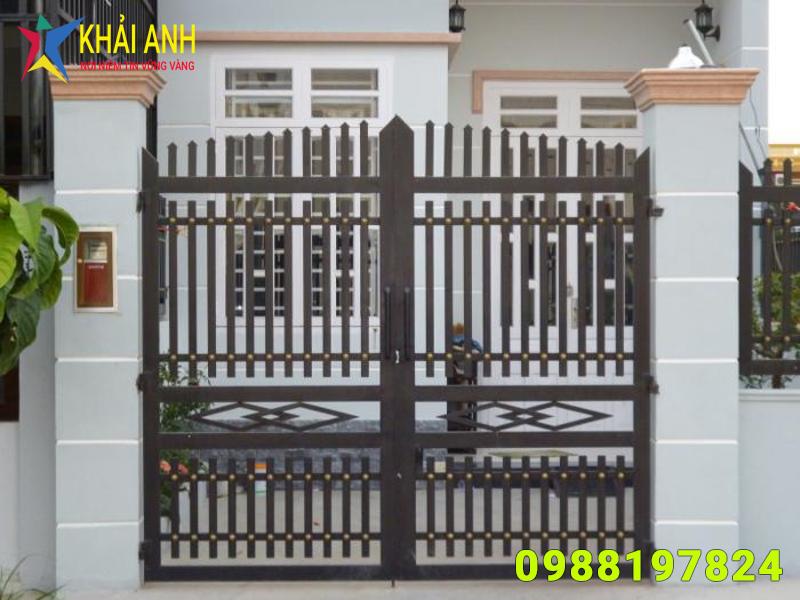 cổng sắt hộp 001 đẹp hà nội