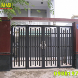Mẫu cổng sắt hộp CSH 002