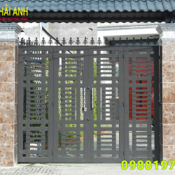 Mẫu cổng sắt hộp CSH 003