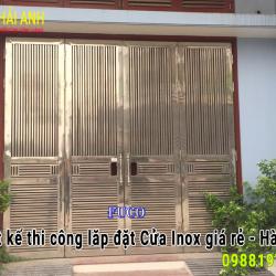 Thi công lắp đặt làm Cửa inox giá rẻ Hà Nội