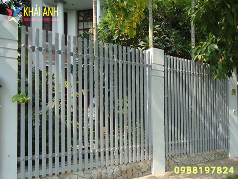 hàng rào sắt hộp 004 đẹp hà nội