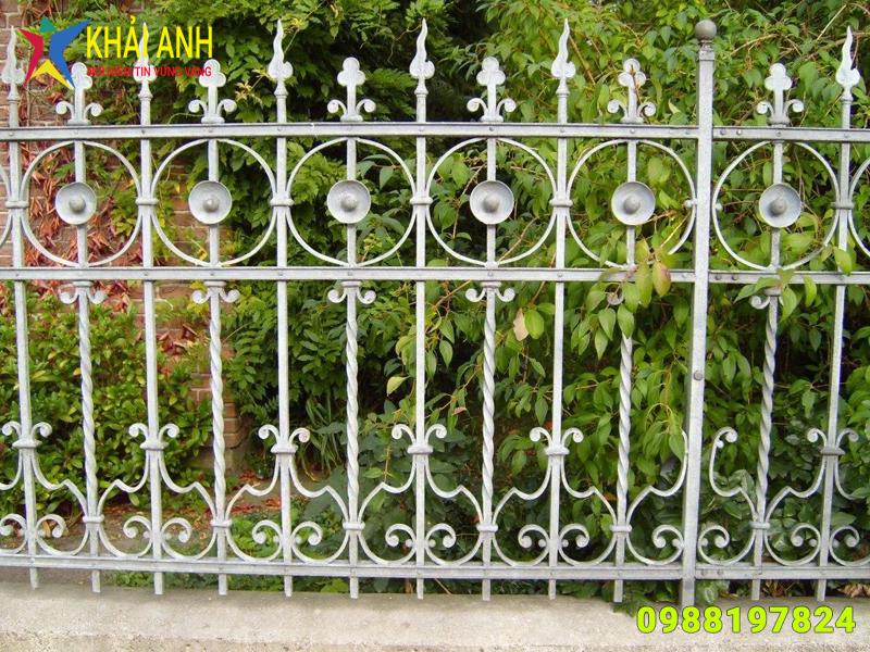 hàng rào sắt nghệ thuật 013 đệp hà nội
