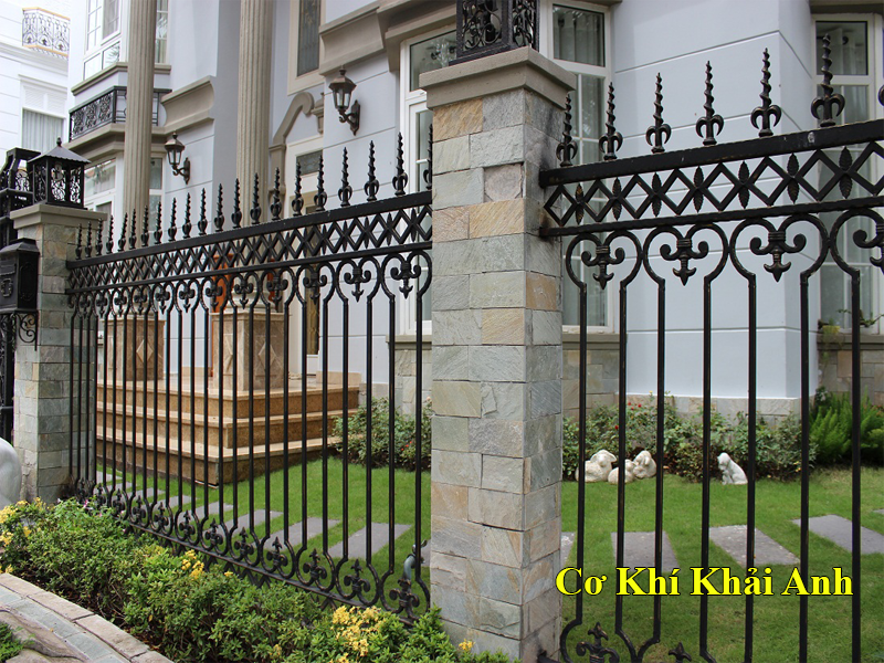 hàng rào sắt nghệ thuật 001 đẹp hà nội