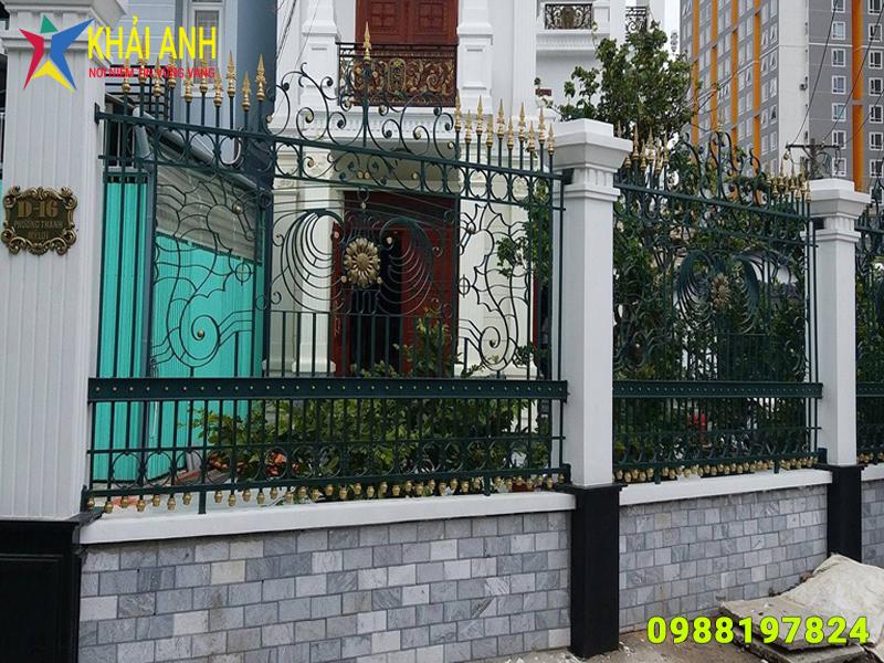 hàng rào sắt nghệ thuật 007 đẹp hà nội