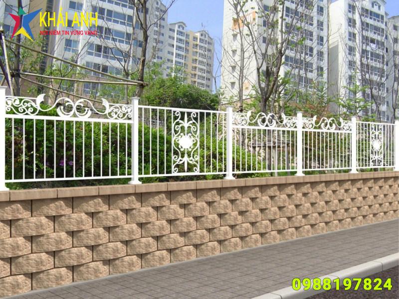 hàng rào sắt nghệ thuật 010 đẹp hà nội