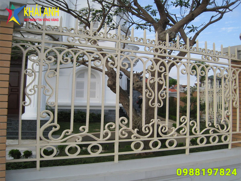 hàng rào sắt nghệ thuật 014 đẹp hà nội