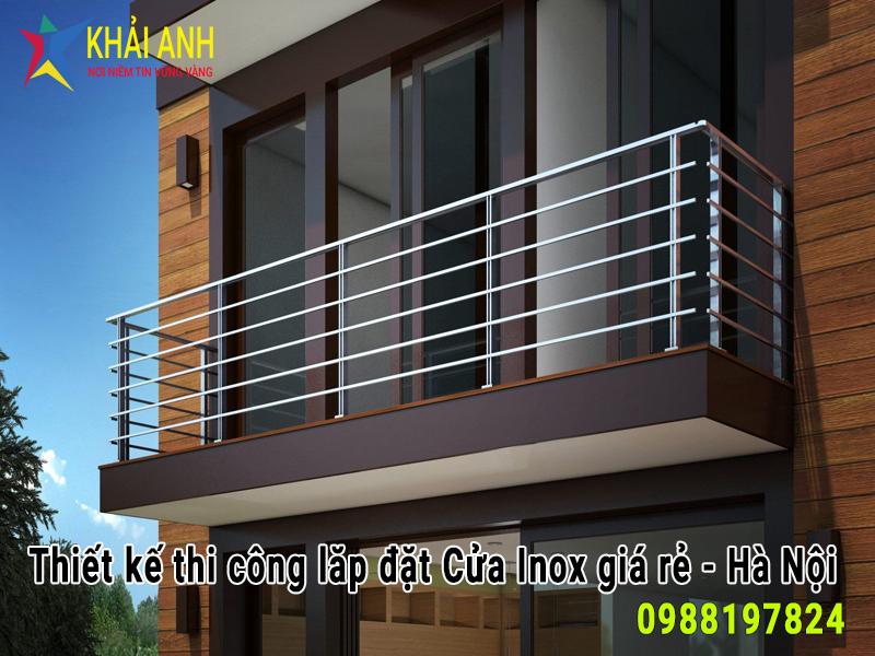 lan can inox 018 cho ban công đẹp hà nội