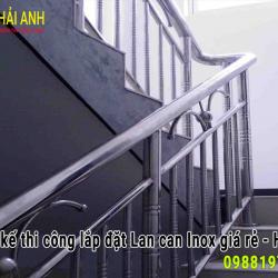 Mẫu lan can cầu thang Inox LCTC 016