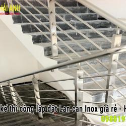 Mẫu lan can cầu thang Inox LCTC 017