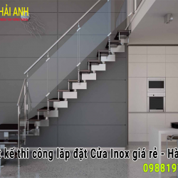 Mẫu lan can cầu thang Inox LCTC 009